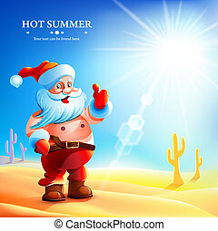 Santa Claus hot in summer - Santa Claus in the summer Santa...