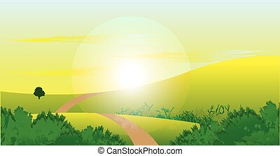 sunrise nature landscape background