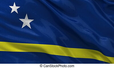 Flag of Curacao seamless loop - Flag of Curacao gently...
