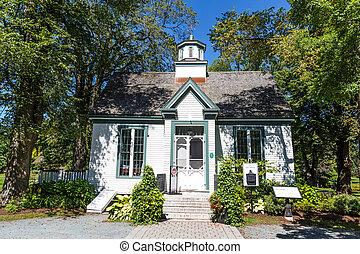 House in Halifax Public Garden - Old wood house with cupola...