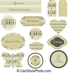 scrapbooking elements - set of elegant scrapbooking elements...