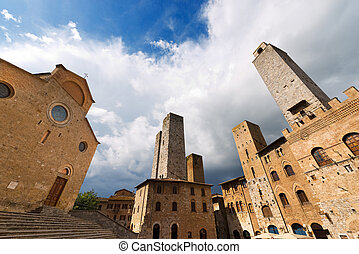San Gimignano - Siena Tuscany Italy - Buildings and towers...