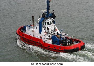 harbour tugboat taken in le havre/france