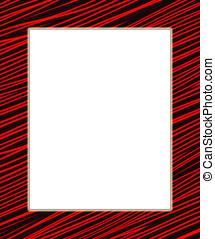 red and black digital frame