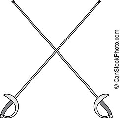 crossed fencing swords