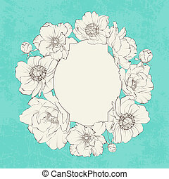 Poppies vintage card - Poppies vintage card design for your...