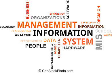 word cloud - mis - A word cloud of management information...
