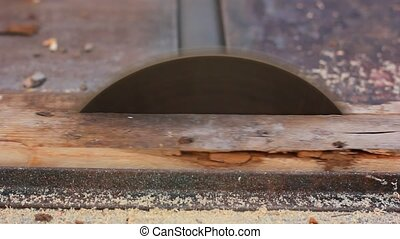 circular saw working