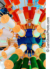 Spool of thread for kite flying in India - Spool of thread...