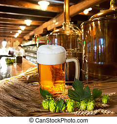 Beer Hops And Barley - beer and raw material for beer...