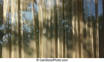 Curtains with shadow