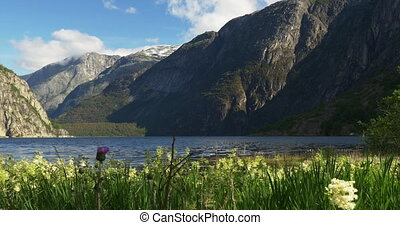 4K, Lake Eidfjordvatnet, Norway - 4K, Nature Of Norway,...