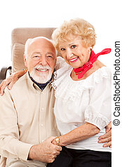 Country Western Seniors - Adorable country western senior...
