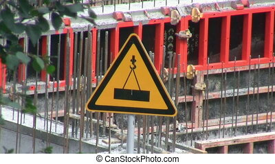 Crane sign and building construction