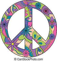 Peace sign - vector isolated peace sign
