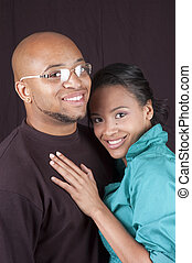 Happy african american couple - happy Beautiful young...