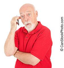 Cellphone Senior - Surprised