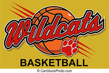 wildcats basketball design with basketball