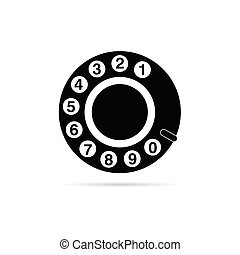 old phone dialer icon vector illustration on white