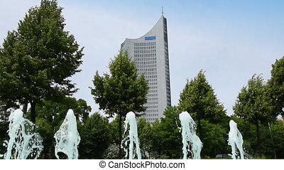 11395 university tower leipzig - Leipzig, Germany- May 22....