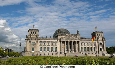 berlin german bundestag with tv tower - German Bundestag in...