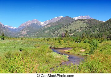 Rocky Mountain National Park in Colorado, USA Horseshoe Park...