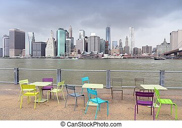 Manhattan from Brooklyn - New York City, United States -...