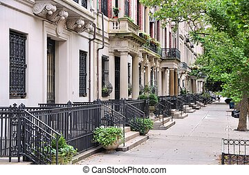Upper West Side - New York City, United States - old...