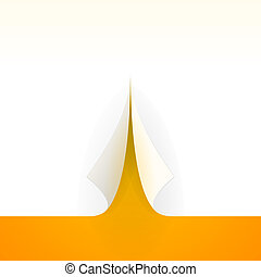Bent Paper Template - Paper over orange background flipped...
