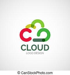 Vector abstract logo design - Vector abstract company logo...