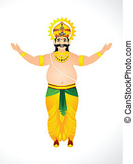 Vector illustration of King Mahabali