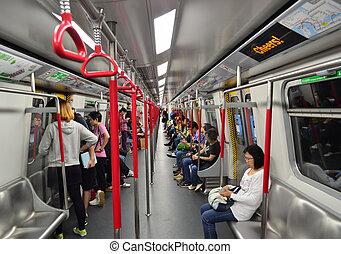 MTR train in Hong Kong