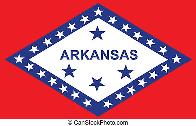 Flag of Arkansas - The state flag of the USA state of...