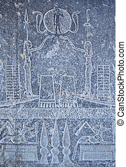 Ancient Egyptian stone carvings