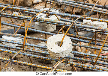 Concrete covering on rusty rebar