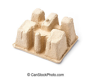 Recycle paper pulp mold