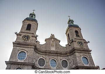 Cathedral of St. James in Innsbruck, Austria. - Cathedral of...