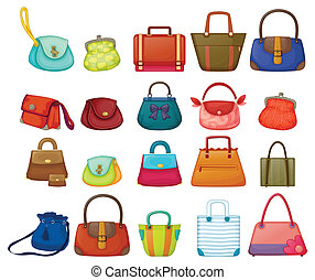 Purses - Ilustration of a set of woman purses