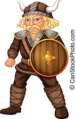 Male viking - Illustration of a viking worrior