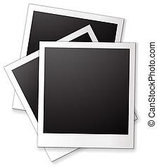 Blank photo frames - Illustration of three blank photo...