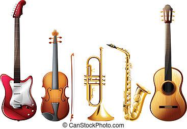 Music set - Illustration of a set of instrument