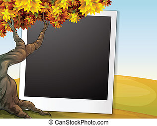 Frame with autumn background