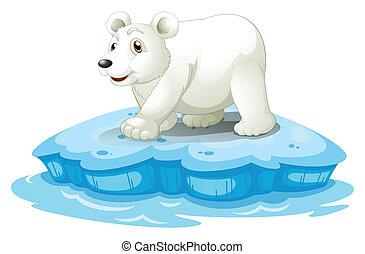 Polar bear - Illustration of a polar bear on iceberge