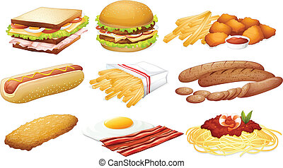 Fast food - Illustration of a set of fastfood