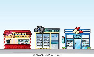 Shops - Illustration of different shops