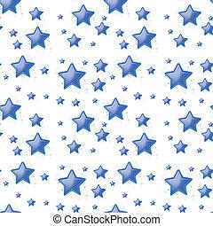 Blue stars background seamless