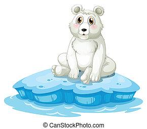 A polar bear above the iceberg - Illustration of a polar...