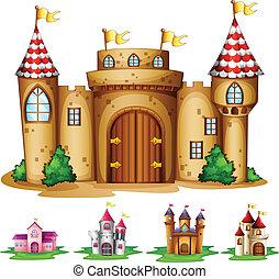 Castles - Illustration of a set of castles