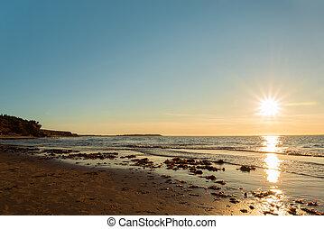 Ocean beach (Green Gables Shore, Prince Edward Island ,...