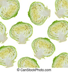 Cabbage - A close up shot of a garden cabbage